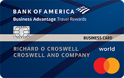 Best credit cards for small businesses bank of america business advantage travel rewards world mastercard credit card reheart Gallery